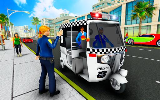 Police Tuk Tuk Auto Rickshaw Driving Game 2020 modavailable screenshots 5