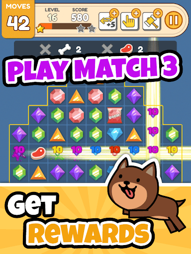 Dog Game - Cute Puppy Collector + Offline Match 3 1.7.1 screenshots 4