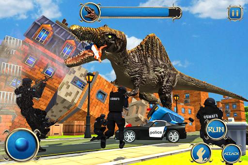 Wild Dino City Rampage: T-Rex Simulator apkmr screenshots 6
