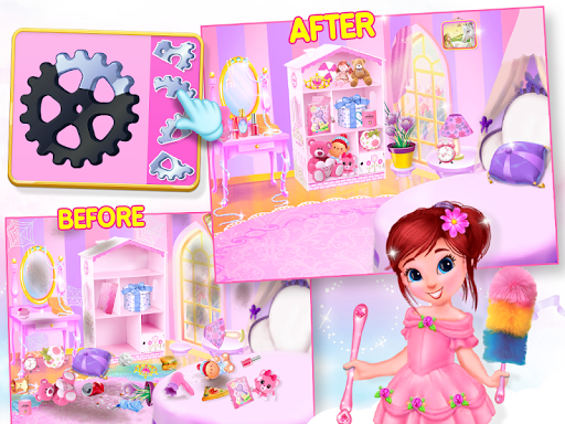 Princess House Cleanup For Girls: Keep Home Clean apkpoly screenshots 4