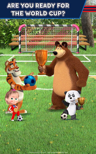 Masha and the Bear: Football Games for kids Apkfinish screenshots 18