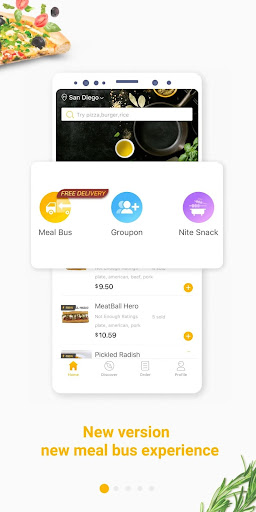 hungryus - free lunch&dinner food delivery screenshot 1