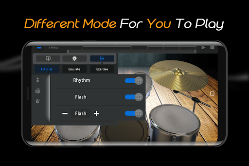 Easy Real Drums-Real Rock and jazz Drum music game 1.3.5 Screenshots 5