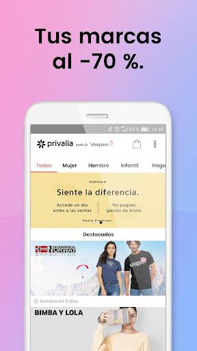 Privalia - Outlet de moda con ofertas de hasta 70% 4.21.0 screenshots 1