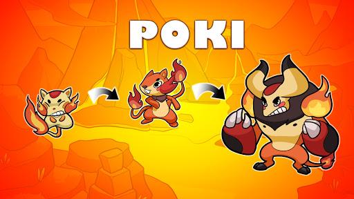 Poki Evolution: Hidden planet - Idle Merge Mania apkmr screenshots 9