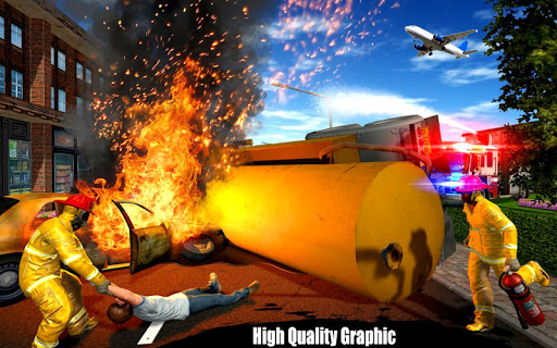 American Fire Fighter 2019: Airplane Rescue apkpoly screenshots 5