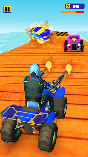 Quad Bike Traffic Shooting Games 2020: Bike Games 3.1 screenshots 12