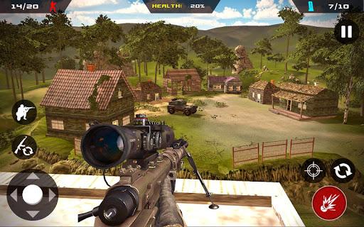 Code Triche Sniper Ghost Commando Warrior - Jungle Survival  APK MOD (Astuce) screenshots 1