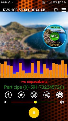 rvs 100.5 fm copacabana screenshot 1