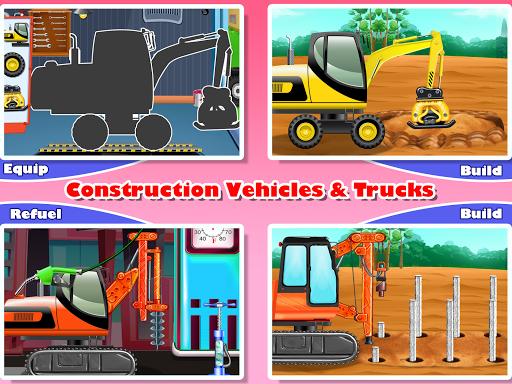 Construction Vehicles & Trucks - Games for Kids  Screenshots 10