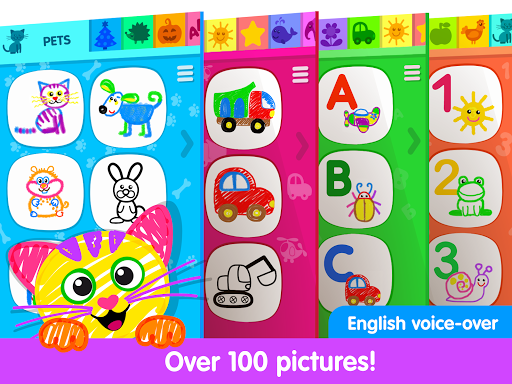 Toddler Drawing Academyud83cudf93 Coloring Games for Kids android2mod screenshots 9