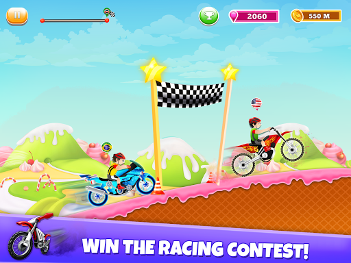 Kids Bike Hill Racing: Free Motorcycle Games 0.9 screenshots 3