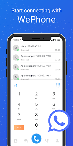 WePhone - Free Phone Calls & Cheap Calls Apk 1