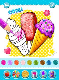 Glitter Ice Cream Coloring 5.4 Screenshots 9