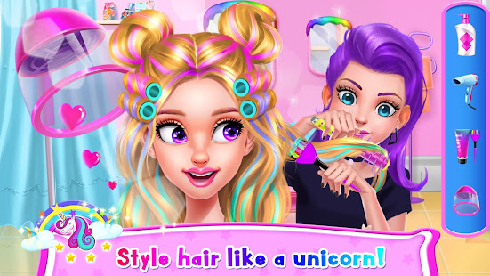 rainbow unicorn hair salon hack