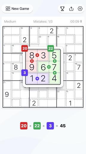Killer Sudoku - Free Sudoku Puzzle, Brain Games  screenshots 2