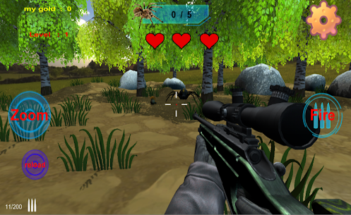 spiders hunting .Hunter & Shooter 3D Hunting Games Hack for iOS and Android 1