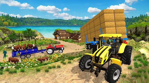 Real Tractor Trolley Cargo Farming Simulation Game screenshots 4
