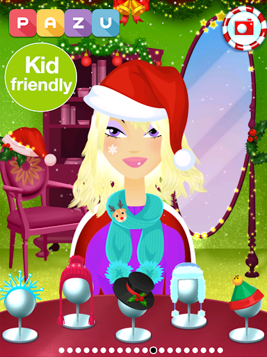 Girls Hair Salon Christmas - Hairstyling for kids 1.03 screenshots 7