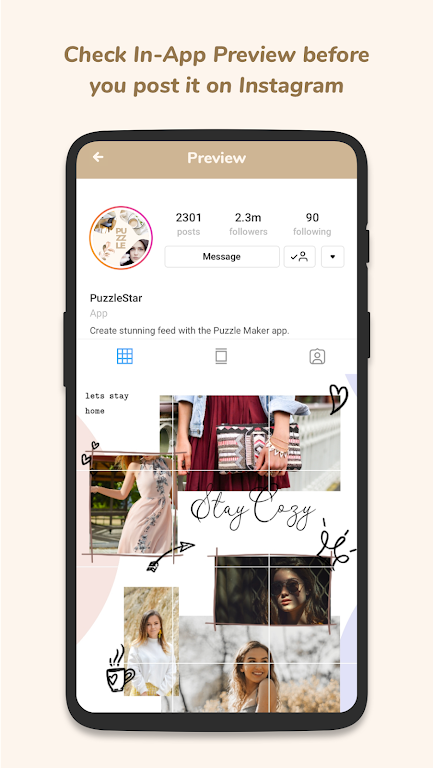 Puzzle Collage Template for Instagram - PuzzleStar  poster 5
