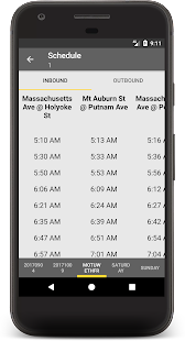 MBTA Boston Bus and Rail Tracker Screenshot