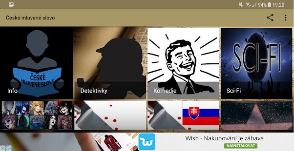 České mluvené slovo Screenshot