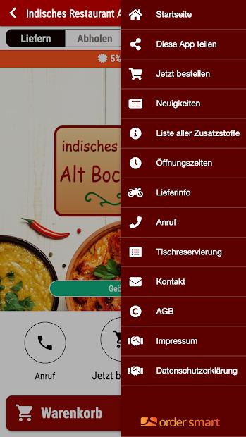 Indisches Restaurant Alt Bockenheim screenshot 2