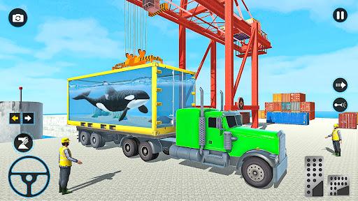 Sea Animals Transport Truck Driving Games  screenshots 8