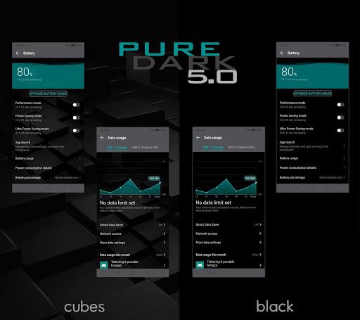 [emui 9.1]pure dark 5.0 theme screenshot 3