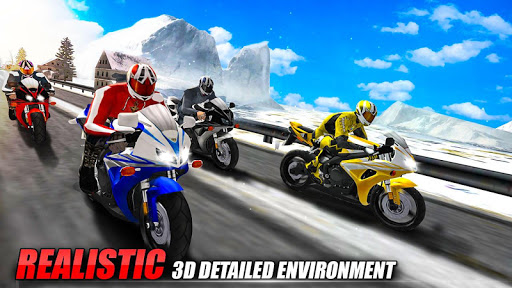 Bike Attack Race : Highway Tricky Stunt Rider android2mod screenshots 7