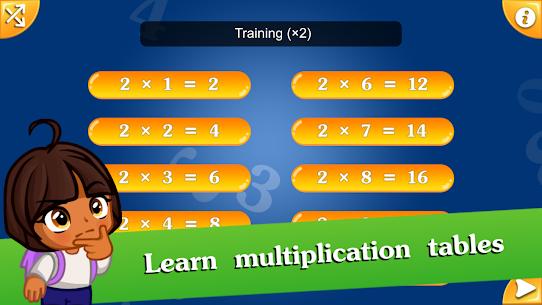 Free Math games for kids – Multiplication table (2х2) 1