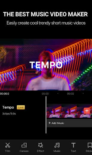 Tempo - Music Video Editor with Effects  screenshots 1