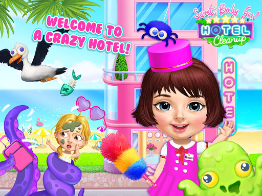 Sweet Baby Girl Hotel Cleanup - Crazy Cleaning Fun  screenshots 17