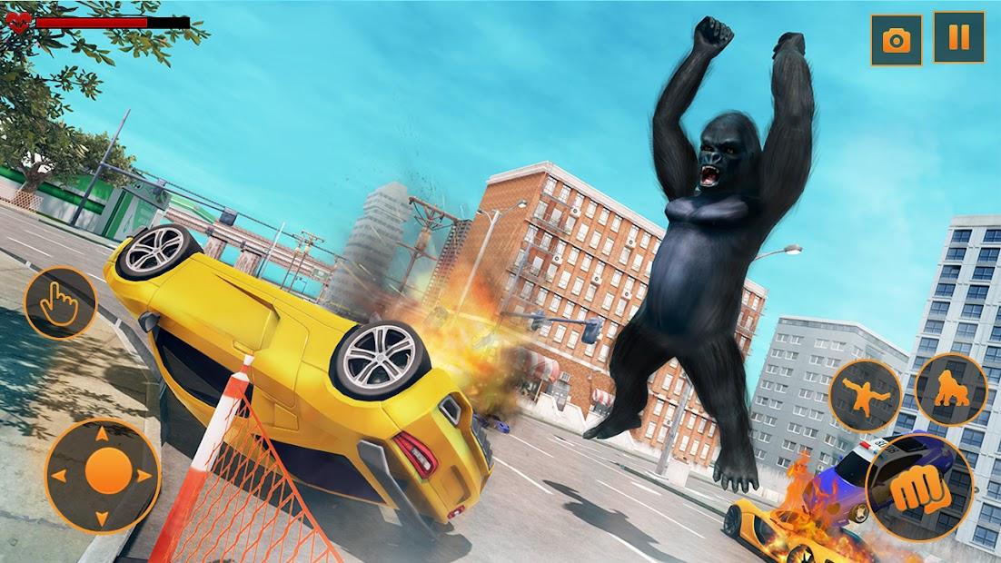Screenshot 3 de Angry Monster Gorilla - Godzilla King Kong Games para android