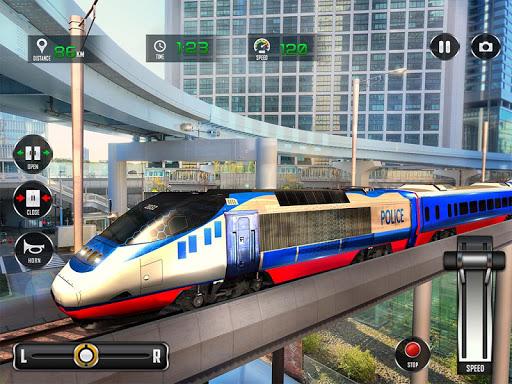 Police Train Shooter Gunship Attack : Train Games  Screenshots 9