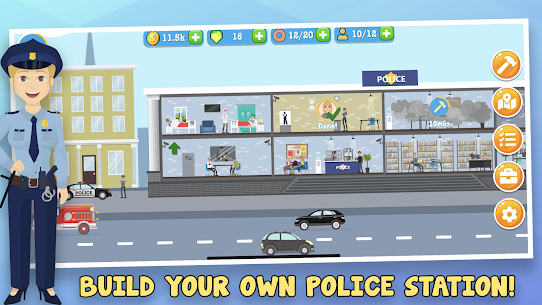 Police Inc Mod Apk: Tycoon police station builder (Unlimited Money) 1