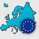 欧州諸国 - ヨーロッパのすべての国、地図、旗および首都についてのクイズ - Androidアプリ