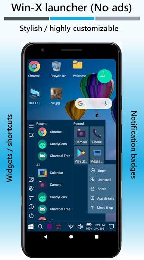 Win-X Launcher (No ads) Apkfinish screenshots 1