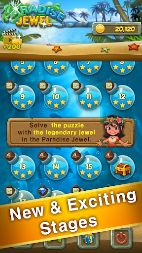 Paradise Jewel: Match 3 Puzzle apktreat screenshots 2