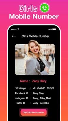Girls Mobile Number Prank –Random Girls Video Chatのおすすめ画像5