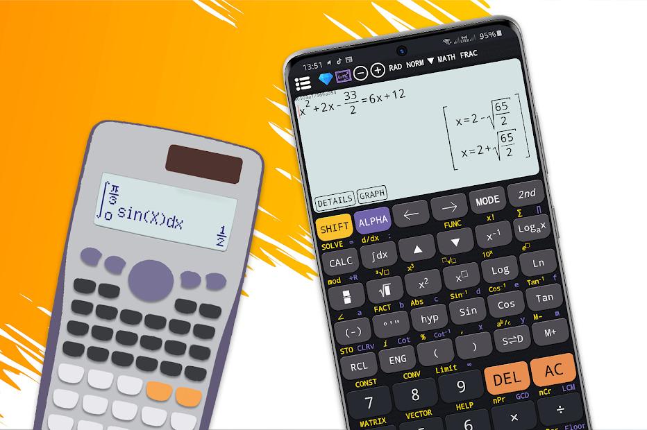Screenshot 2 de Calculadora científica 82 es plus advanced 991 ex para android