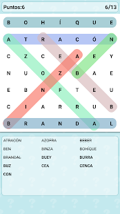 Word Search Games in Spanish Screenshot