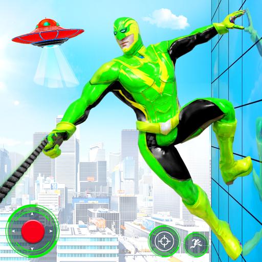 Frog Ninja Rope Hero Robot: Gangster Crime City