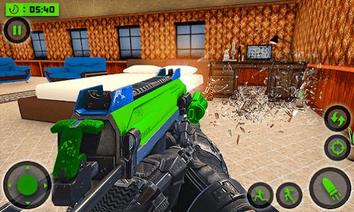 House Destruction Smash Destroy FPS Shooting House Mod Apk (God Mode) 2