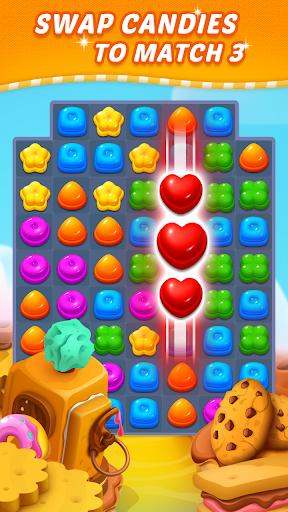 Sweet Candy Puzzle: Crush & Pop Free Match 3 Game modiapk screenshots 1