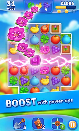 Fruits Garden - Match 3 Game APK MOD – Pièces Illimitées (Astuce) screenshots hack proof 1