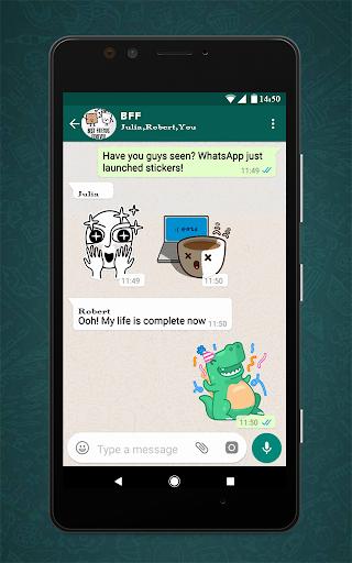 Free Messenger Whats Stickers New  Screenshots 2