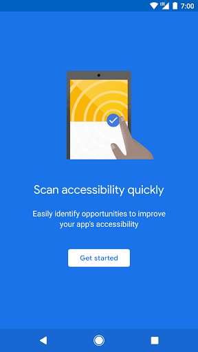 Accessibility Scanner modavailable screenshots 1