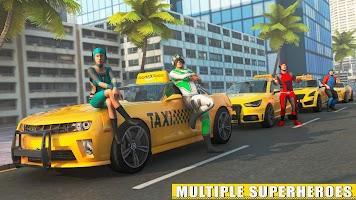 Superhero Taxi Simulator: Car Racing Stunts Games