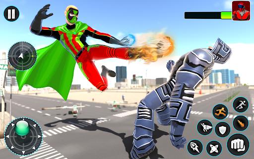 Flying Robot Hero - Crime City Rescue Robot Games 1.7.7 Screenshots 6